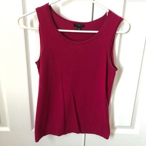 Pink Knit Ann Taylor Sleeveless Shell Top